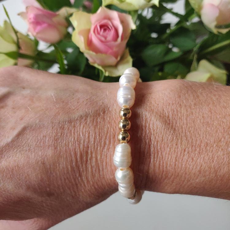 Armband - sötvattenspärlor