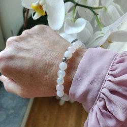 Armband - agater och rosenkvarts