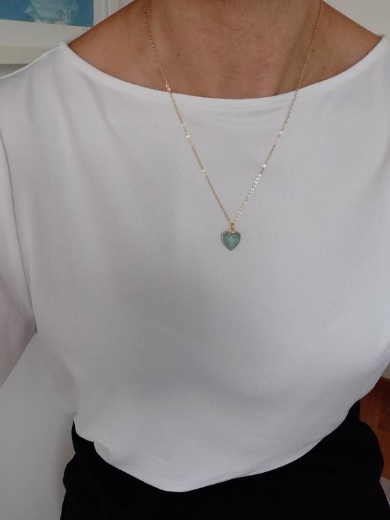 Halsband - guldpläterad kedja