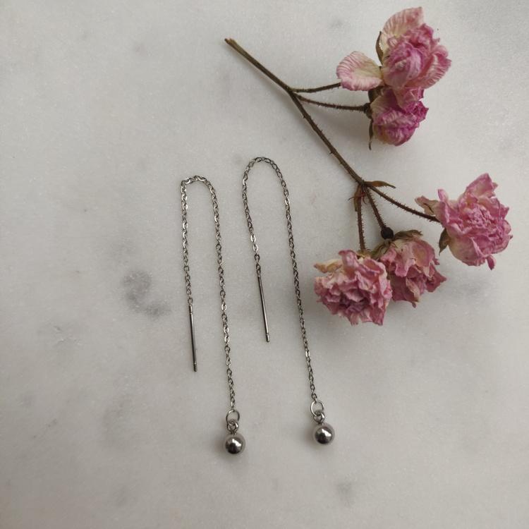Örhängen - kedjor i rostfritt stål