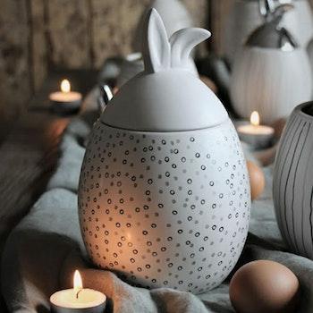 Majas Rabbit Jar Prickig Vit Stor