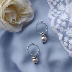 Örhängen - creoler i sterling silver