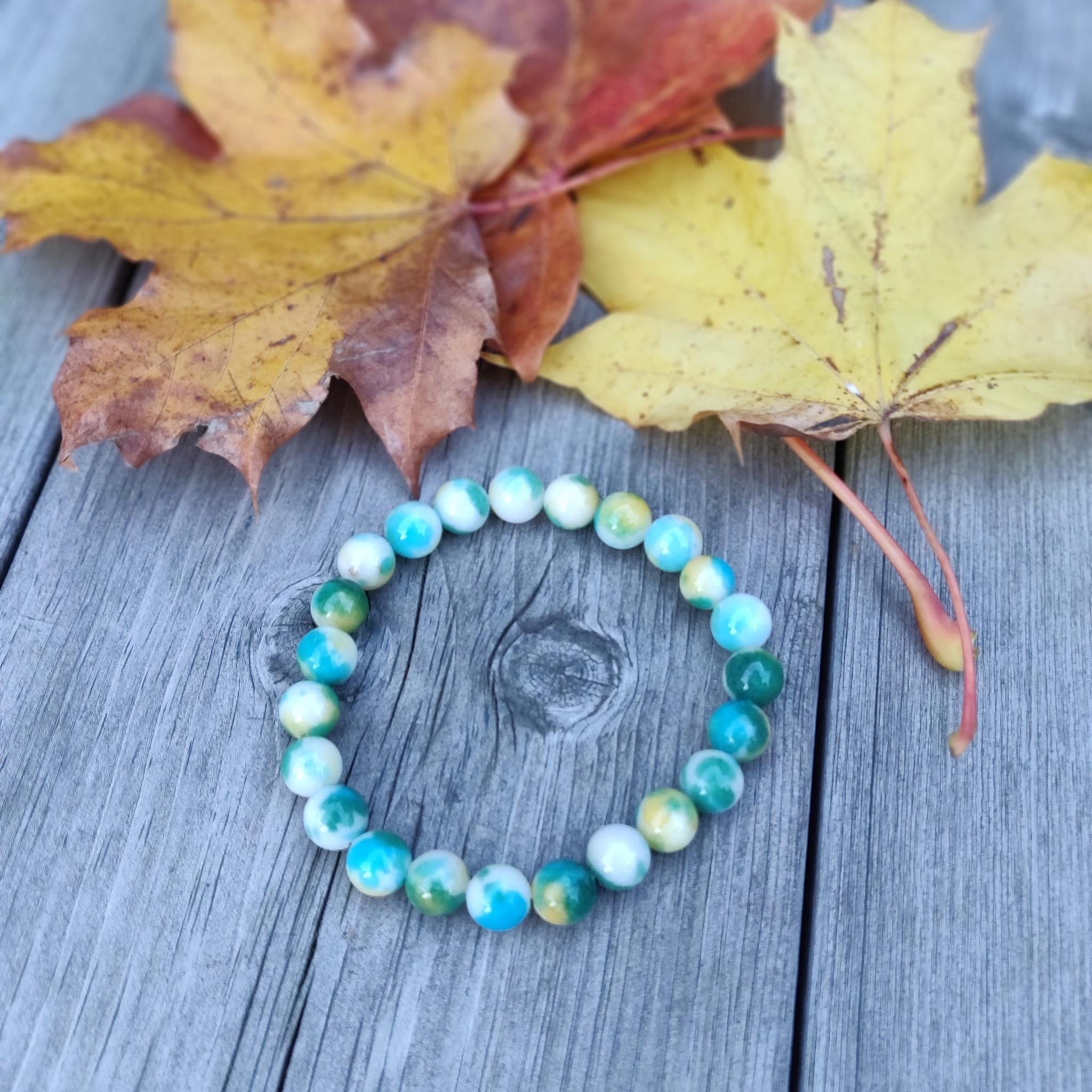 Armband - jade i turkost och grönt