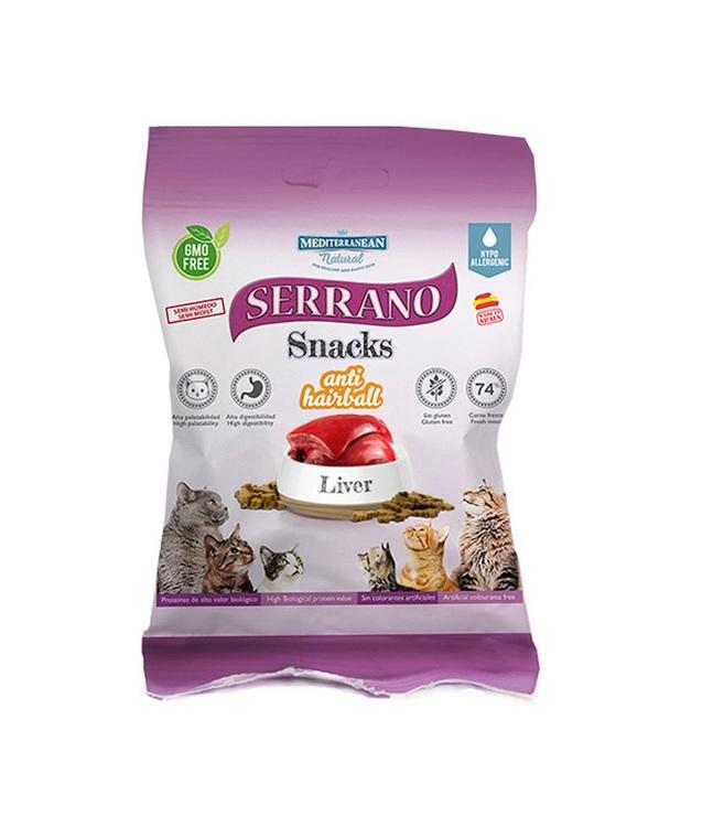 * Serrano Snacks, Anti Hairball, Liver, 50 gr. *
