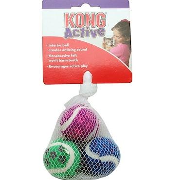 * Kong Active, 3 bollar med bjällra *