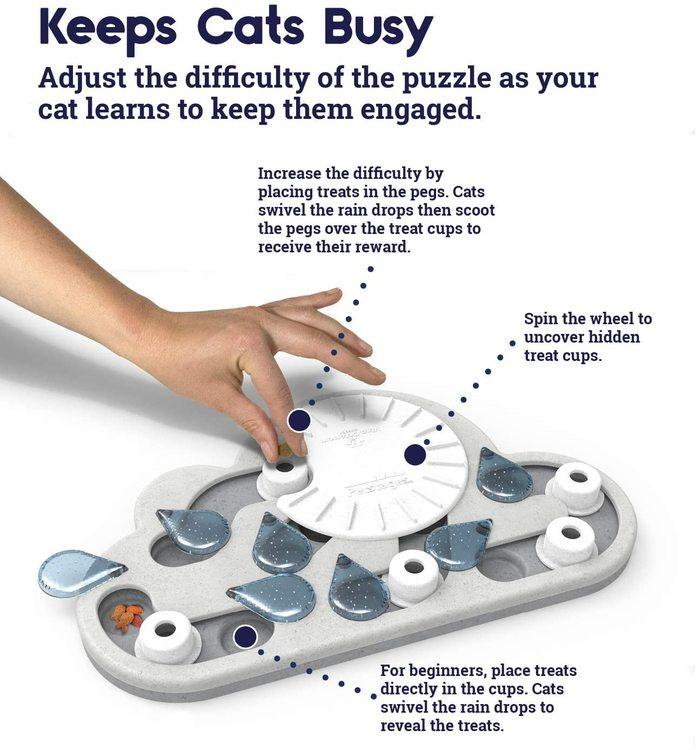 * Rainy Day Puzzle & Play, Nina Ottosson aktiveringsleksak av ekovänlig material *