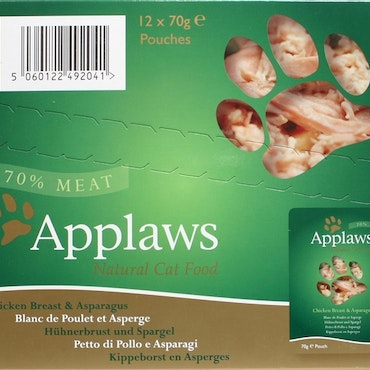 * Applaws Pouch, Chicken Breast with Asparagus, 12 x 70 gr. *