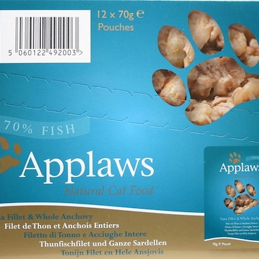 * Applaws Pouch, Tuna Fillet with whole Anchovy, 12 x 70 gr. *
