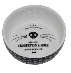 * Keramikskål Katt Croquette *