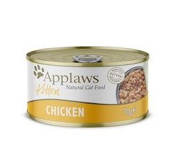 * Applaws Kitten blötmat, Chicken, 24 x 70 gr. *