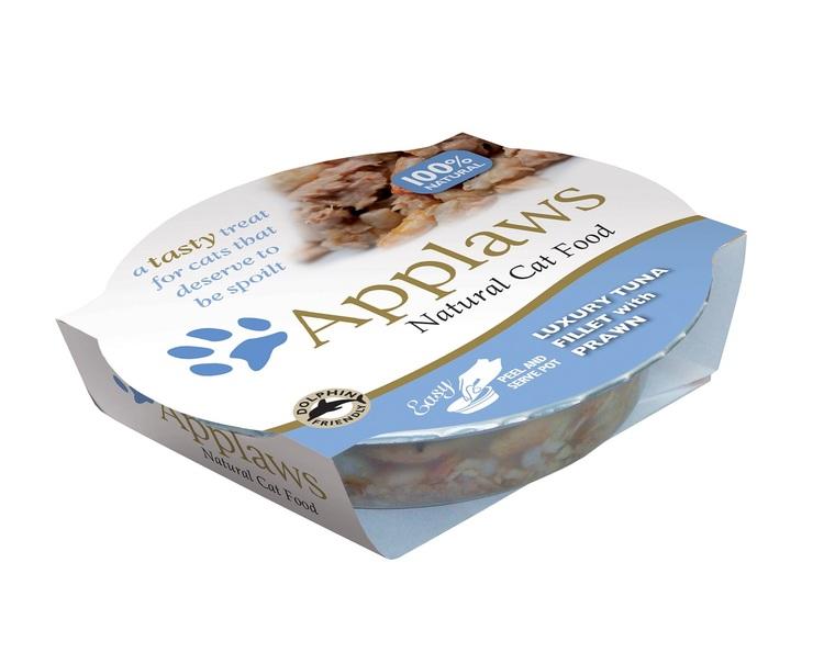 Applaws Easy Peel Pot, Tuna Fillet with Prawn, 10 x 60 gr.