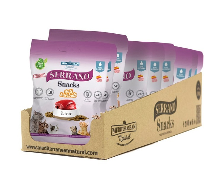 Serrano Snacks, Anti Hairball, Liver, 50 gr.