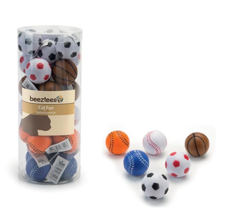 Sportbollar av skumgummi, 28 st. (13,89 kr/boll)