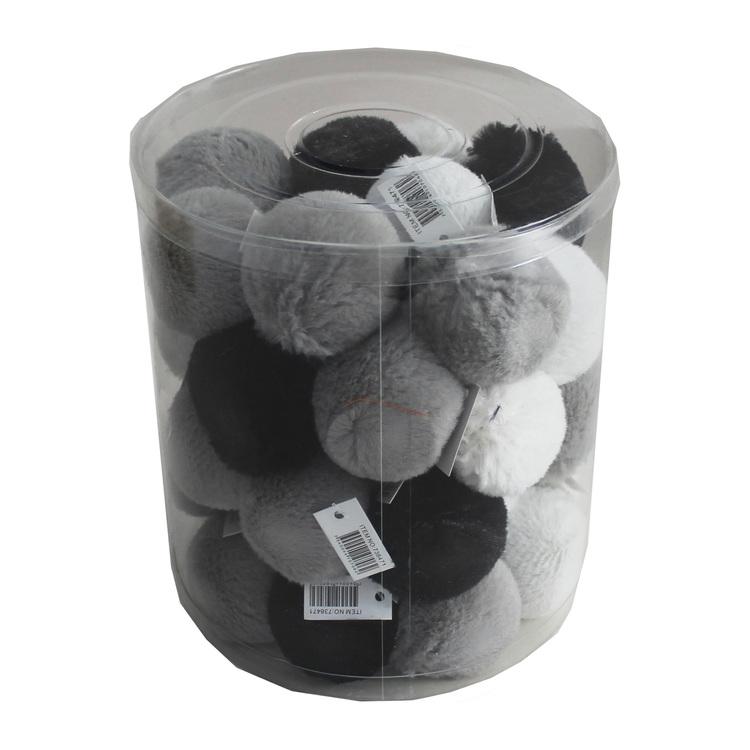 Pälsboll med skrammel, 42 st. (9,80 kr/boll)