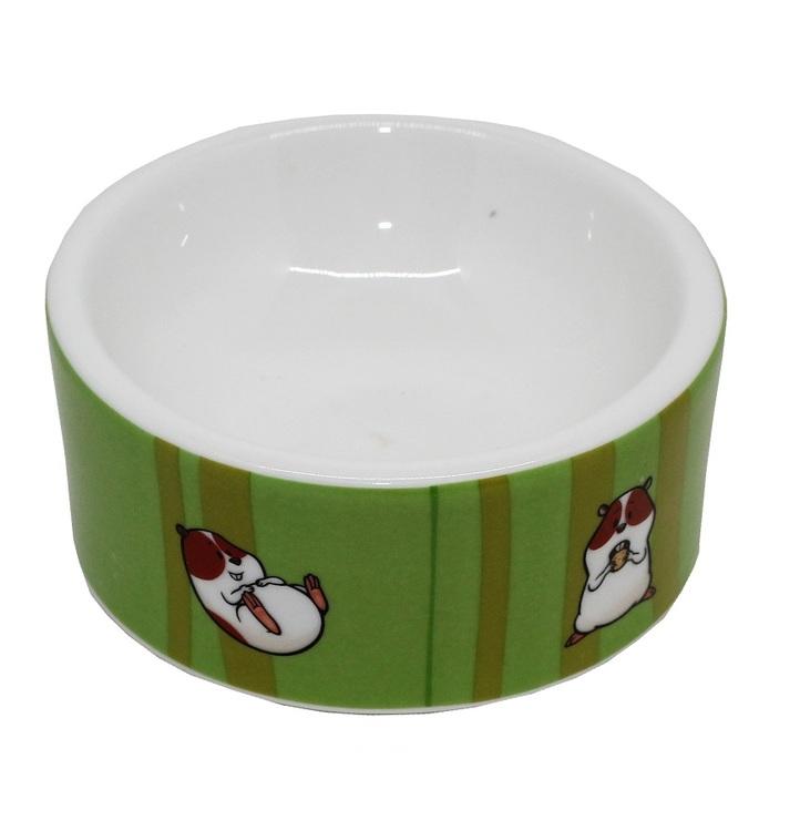 Keramikskål Hamster, grön