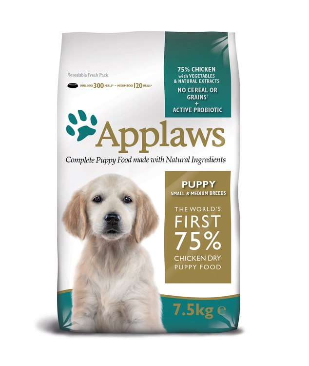 Applaws Puppy Chicken, Small & Medium Breeds, 7,5 kg.