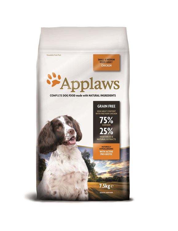 Applaws Adult, Chicken, Small & Medium Breeds, 7,5 kg.