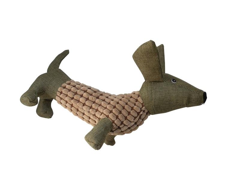 Plyschleksak Hund