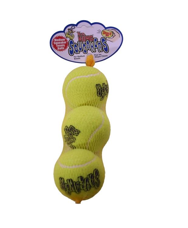 KONG Air Squeaker Tennisboll, 3-pack