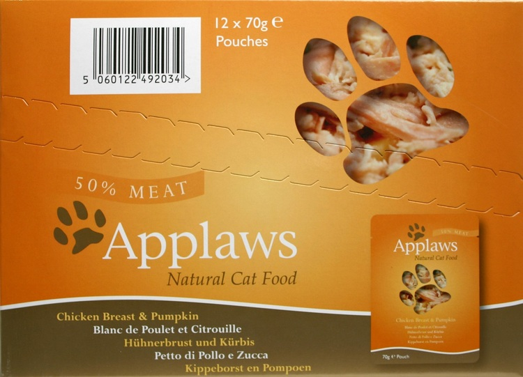 Applaws Pouch, Chicken Breast with Pumpking, 12 x 70 gr.
