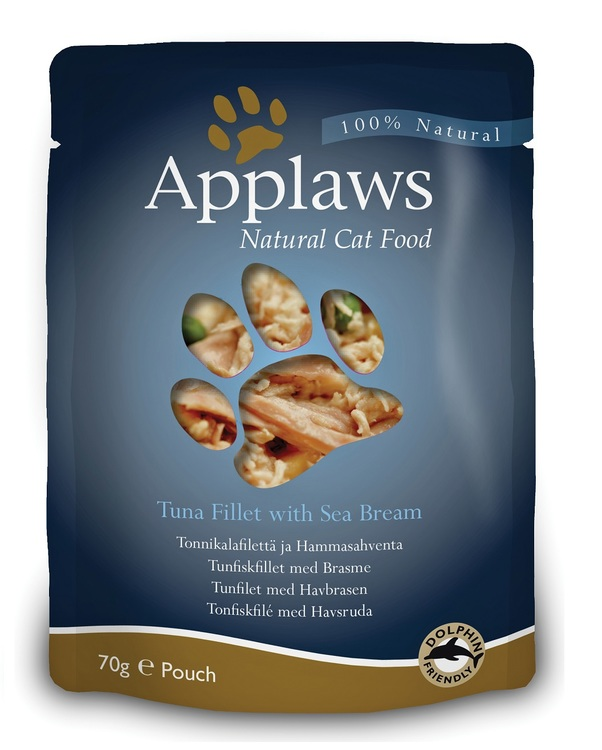 Applaws Pouch, Tuna Fillet with Sea Bream, 12 x 70 gr.