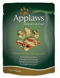 Applaws Pouch, Chicken Breast with Asparagus, 12 x 70 gr.