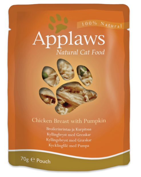 * Applaws Pouch, Chicken Breast with Pumpking, 12 x 70 gr. *