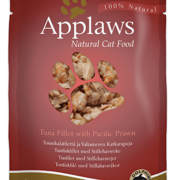 * Applaws Pouch, Tuna Fillet with Pacific Prawn, 12 x 70 gr. *