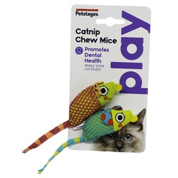 Petstages Catnip Chew Mice. 2st.