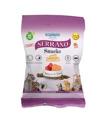 Serrano Snacks, Anti Hairball, Salmon & Tuna, 50 gr.