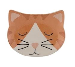 Keramikskål Smokey Cat, röd, Mason Cash