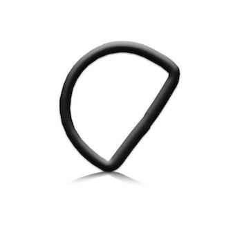 DiveSystem 50 mm D-ring av aluminium