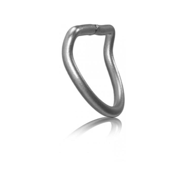 D-ring i Stål, 45 ° böjd