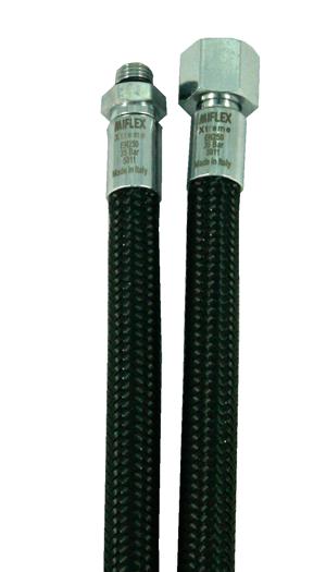 Flexibel Miflex regulatorslang för dykning svart