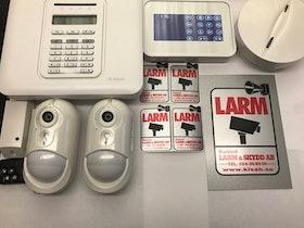 Kameralarm PowerMaster-10 G2 paket, 2Pircam,1 rök, 1 KP-160.