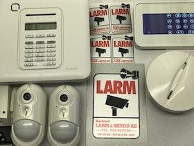 Kameralarm PowerMaster-10 3 Pircam, 1 KP160, 1 rök