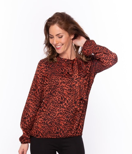 New Odd Things Blus - Lecia LS Brique Leopard