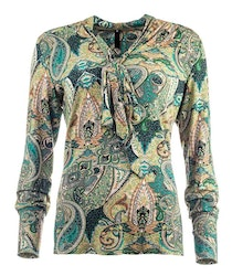 New Odd Things Blus  - Claire LS Green Paisley