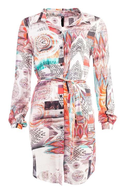 NOT Långskjorta - Lian LS Colored Aztec Woven
