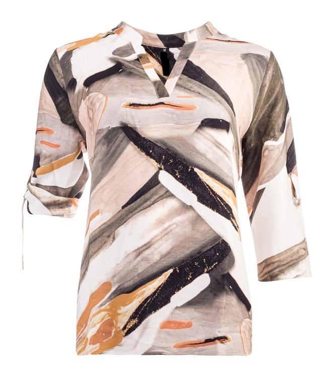 NOT Linneinspirerad blus/skjorta - Carola 3/4 Sand Fades