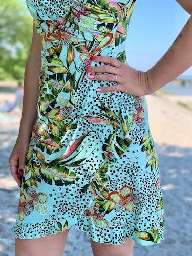 NOT Omlottklänning -  Jente SS Mint Floral