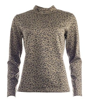NOT Polo - Flat LS Army  Leopard JACQUARD