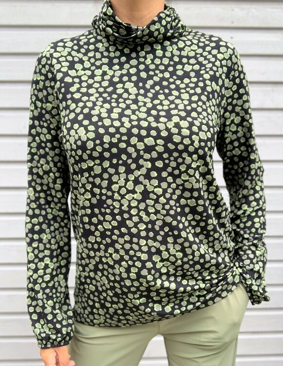 NOT Polo - Camile LS Army Pale Green Dot