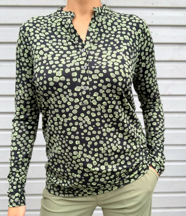 NOT Topp - Ralio LS LS Army Pale Green Dot