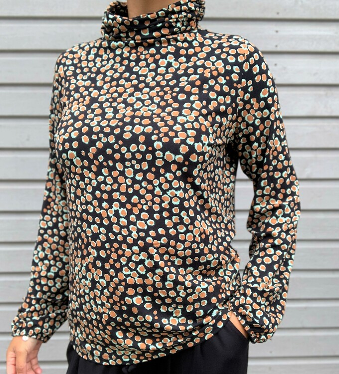 NOT Polo - Camile LS Caramel Coffee Mint Dot