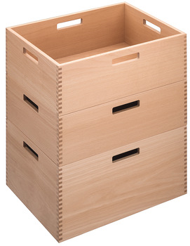 Stapelbox i ek, hög