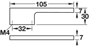 Modell B7193 - finns i svart och krom, cc 32 mm
