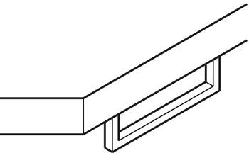 Handdukshängare, undermonterad - 600 mm