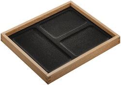 Smyckesbox med 3 större fack