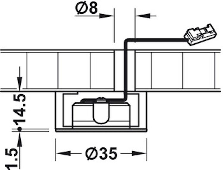 Infälld spot 5
